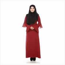 CHARMING JUBAH (RED/BLUE, SIZE S/M/L/XL))