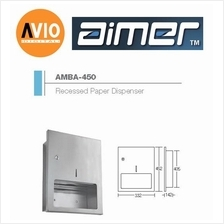 AIMER MALAYSIA AMBA-450 STAINLESS 304 RECESSED PAPER DISPENSER