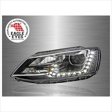 VOLKSWAGEN JETTA A6 2011 - 2017 EAGLE EYES LED DRL Projector Head Lamp