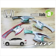 HONDA CITY GM6 2013 - 2017 4 Pcs Chrome Door Handle Inner Guard Bowl