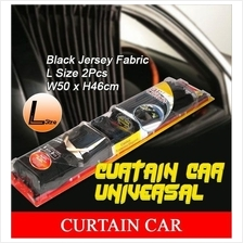 Universal 50Cm M Size VIP Style Black Jersey Fabric Car Curtain