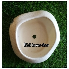 CREAM COLOUR SHALLOW POT WITH DIAMETER 20 CM AND HEIGHT 8 CM