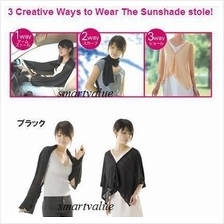Japan 3 Way Sunshade Stole UV Protect your Arms,Shoulders UnderThe Sun