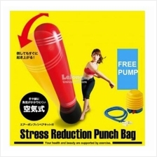 150cm Inflatable Punching Bag- Red (Free Manual Pump)