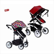 1309 Luxurious High View Detachable Bassinet Anti-Shock Stroller