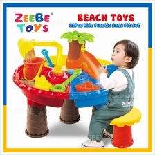 ZEEBE Kids Beach Toy Water Sand Round Table 22 PCS Mold Set