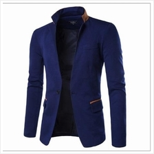 MS0191D New One Buckle Stand Collar Casual Men's Suit Jacket
