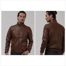 MS0041D Autumn Men's Leather Motorcycle PU Leather Jacket