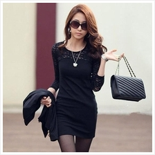 WS0129D Korean Slim Lace Dress