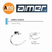 AIMER MALAYSIA AMBA-83808 BRASS CHROMED TOWEL RING