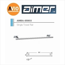 AIMER MALAYSIA AMBA-85803 BRASS CHROMED 600MM SINGLE TOWEL RAIL