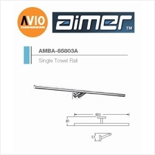 AIMER MALAYSIA AMBA-85803A BRASS CHROMED 600MM SINGLE TOWEL RAIL