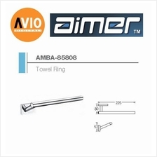 AIMER MALAYSIA AMBA-85808 BRASS CHROMED TOWEL RING