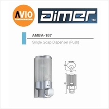 AIMER MALAYSIA AMBA-187 ABS SINGLE SHAMPOO AND SOAP DISPENSER (PUSH)
