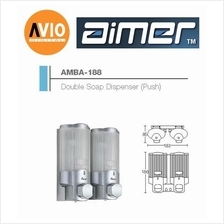 AIMER MALAYSIA AMBA-188 ABS DOUBLE SHAMPOO AND SOAP DISPENSER (PUSH)