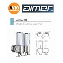 AIMER MALAYSIA AMBA-242 ABS DOUBLE SHAMPOO AND SOAP DISPENSER (PULL)