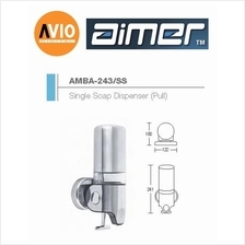 AIMER MALAYSIA AMBA-243/SS ABS SINGLE SHAMPOO AND SOAP DISPENSER PULL