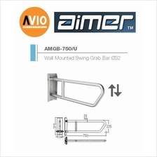 AIMER MALAYSIA AMGB-750/U STAINLESS WALL MOUNTED SWING GRAB BAR Ø32