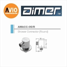 AIMER MALAYSIA AMACC-05/R BRASS CHROMED ROUND SHOWER CONNECTOR
