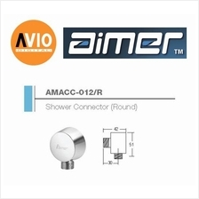 AIMER MALAYSIA AMACC-012/R BRASS CHROMED ROUND SHOWER CONNECTOR
