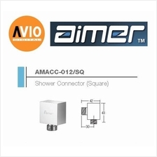 AIMER MALAYSIA AMACC-012/SQ BRASS CHROMED SQUARE SHOWER CONNECTOR