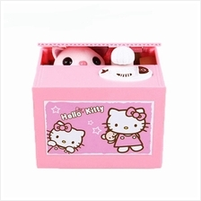 HELLO KITTY-CAT Cute Steal Coin Music Bank Money Saving Box Toy Gift