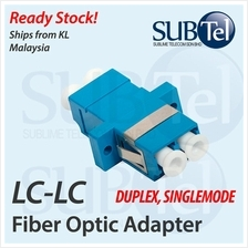 LC-LC SMF Singlemode Fiber Optic Adapter Duplex Coupler