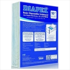 Diapex Basic Disposable Underpad 10 pcs ( Size 60 x 90 cm) x 6 pkts)