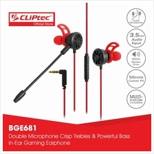 CLiPtec SPIDERUOS In-Ear Gaming Earphones with Double Microphone BGE68)