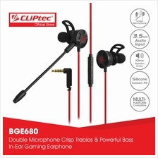 CLiPtec KONQUERUOS In-Ear Gaming Earphones with Double Microphone BGE6)