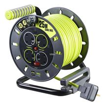 MY Professional 25m x 4 Socket Extension Cable Reel