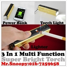 Multi Function USB torchlight Led, Torch Light Power Bank,Lighter