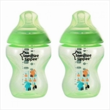 Tommee Tippee Closer To Nature Tinted Bottle 260ml/9oz (Twin Pk) *Gree