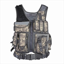 HUNTING TACTICAL MOLLE PAINTBALL COMBAT SOFT VEST (ACU CAMOUFLAGE)