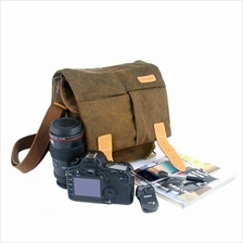WATER-RESISTANT CANVAS CAMERA BAG FOR TRAVEL DAILY LIFE