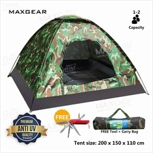 MAXGEAR Foldable Camping Outdoor Travel Tent 2 Person Army Camouflage