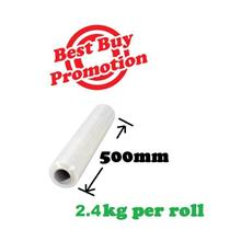 Stretch Film 500mm 2.4kg Promotion (1 roll to 6 rolls ) clear wrapping