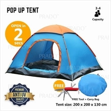 Foldable Automatic Rapid Open Camping Outdoor Travel Tent 4 Person