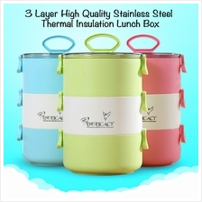 AS 3 Layer High Quality Stainless Steel Thermal Insulation Lunch Box