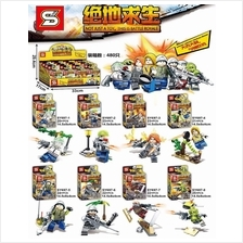 SY697 PUBG PlayerUnknown's Battlegrounds Minifigures (8 in 1)