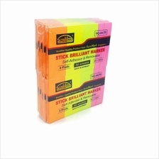 10 Packets SureMark 4 Colours Self Adhesive & Removable Stick On Note