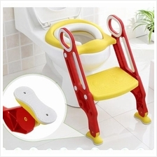 Large Baby Potty Training Toilet Chair Seat Step Ladder Trainer RED
