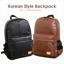 Korean Style Premium Quality Leather Backpack PU Shoulder School Bags
