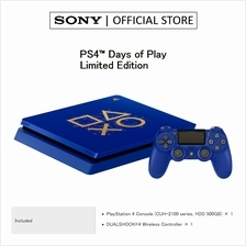 "SONY PS4 SLIM LIMITED EDITION  ""Days of Play "" 500GB CONSO)"