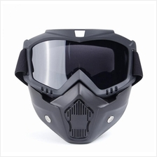Motorcycle Face Mask Goggles Motor Open Face Detachable Goggle Helmets