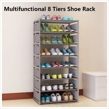Multifunctional Korean Trendy 8 Tiers Adjustable Shoe Rack