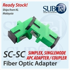 APC SC-SC SMF Singlemode Fiber Optic Adapter Coupler for Patch Panel
