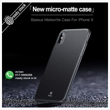 BASEUS Meteorite Micro-matte PC Slim Back Case For iPhone X Apple X Ve