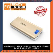 ORIGINAL PINENG PN-999 20000MAH POWER BANK 2 USB PORT - GOLD