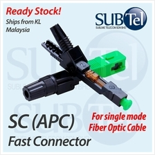 SC APC Fast Fiber Optic Connector Patch Repair SMF GPON GEPON FTTH